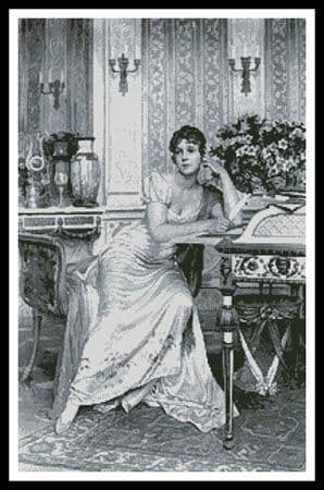 Amelie Florence by Artecy printed cross stitch chart